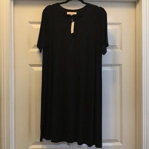 """NWT Loft- black """"t-shirt"""" dress"""